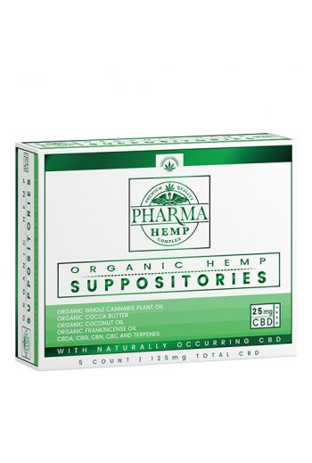 PHARMA HEMP CBD SUPPOSITORIES