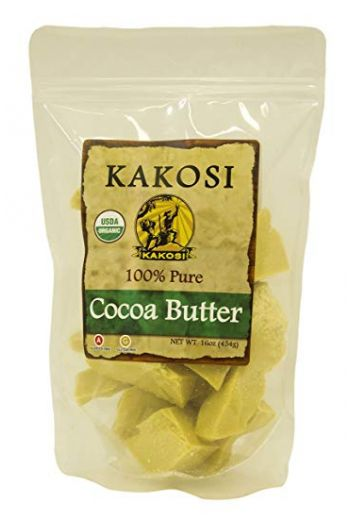 KAKOSI ORGANIC COCOA BUTTER 1 POUND (1LB) BAGS