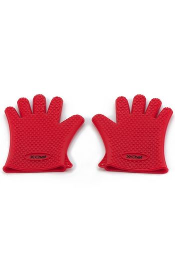 HEAT RESISTANT SILICONE GLOVES (TEMPERATURES UP TO 425 DEGREES FAHRENHEIT)